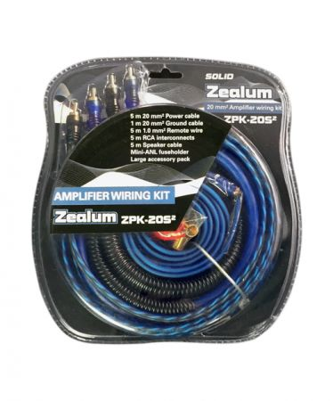 "ZEALUM ZPK-20S2 - ""SOLID"" Powerkabelset 20mm2"