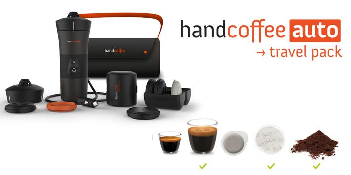 handcoffee auto mobile kaffeemaschine f r kaffeepads 12v. Black Bedroom Furniture Sets. Home Design Ideas